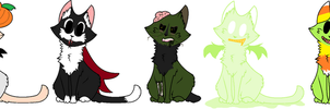 Cheap Adopt Batch | Spoopy Kitties 1 | OPEN by TurkFish