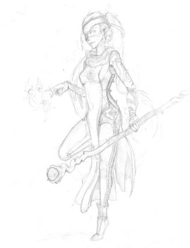 Elf Mage Pencil by DownWright