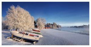 Oulujoki Winter Panorama by jjuuhhaa