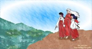 Kag_Kik_For_a_Tomorrow_with_Inuyasha by Gaias