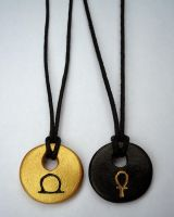 Egyptian Inspired Necklaces by clarearies13