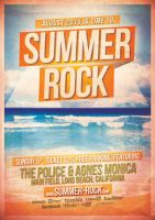 Summer Rock Flyer Template by ThinHo