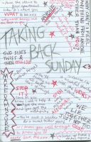 Taking Back Sunday Scribble by KarenWanny