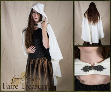 Ivory Rogue Cape by CrystalKittyCat
