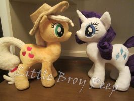 My little pony Rarity and applejack (commission) by Little-Broy-Peep