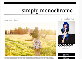 Simply Monochrome Blogger Layout by candypow