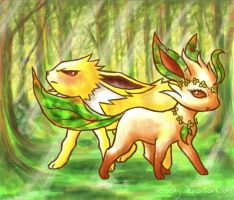 Clover and Surge by cerasly
