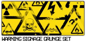 Warning Signage Grunge Set by ardcor