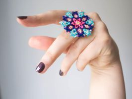 Bohemian Knotted Ring by floriknoture