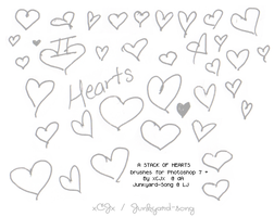 Stack of Hearts: Brushes by xCJx