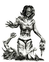 Zombie Girl Stacey by WretchedSpawn2012