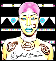 Vector Of Erykah Badu I Done by MsDaijahStylez