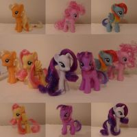 Restyled Mane Six by raincloudriot