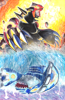 Omega Ruby and Alpha Sapphire by Pixelated-Takkun