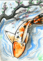 FOR SALE - ACEO - Don't Play Koi! by KaizokuShojo