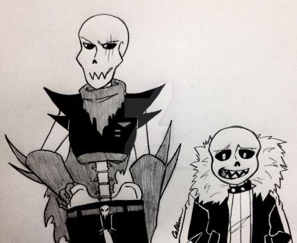 Underfell Skelebros by Calibriatheskeleton