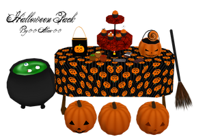 MMD Halloween Pack DL by 0-0-Alice-0-0