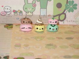 Kawaii Japanese Sweets Charm Set by kneazlegurl125