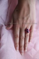 Pink and purple ring by Rongxing Jewelry II by QueenWerandra