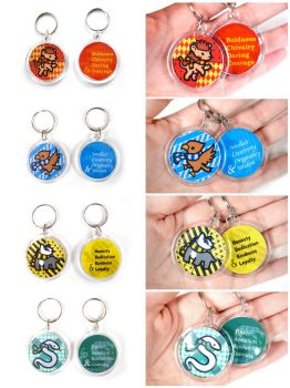 House Pride double sided Keychains by pookat
