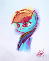 Rainbow Dash Color Sketch by FluttershytheKind