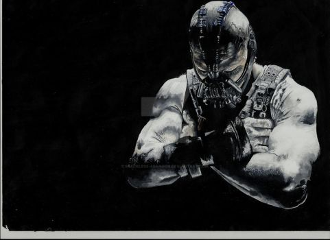 Bane - Acrylic Painting by 8Reckless-Abandon