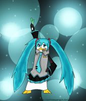 Miku penguin by ExtremePenguin