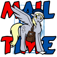 Mail Time with Derpy Hooves by LazingAbout94