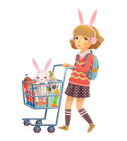 Shopping Bunny by boOnsai