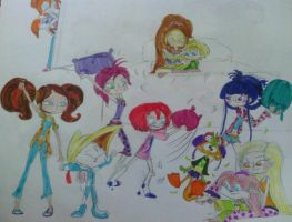 Slumber Party with the Winxs and Toonsters by MIXTOONS