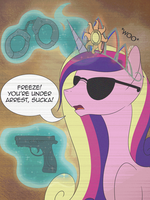 Cop Cadance - Draw this again by iRaincloud