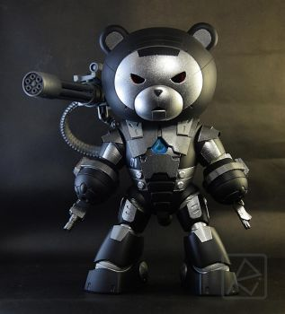 HGBF 1/144 Beargguy  X  War Machine by AndrewMS