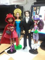 Happy Family Barbie and Monster High by seawaterwitch