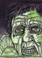 Zombies Series - Dr. Hill from Reanimator by colemunrochitty
