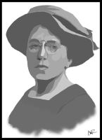 Emma Goldman Portrait by r4nd0mpunk