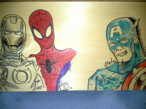 Super Hero Toy Box (Unfinished) by That1Kyd