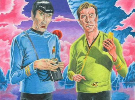 Spock and Kirk by Scifi-Fans