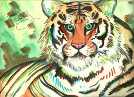 My WaterColor Tiger by color-freak1