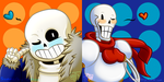 Sans 'n Papyrus - free use icons ! by Summer-Boy