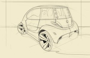 hybrid car sketch 2 back by Nico4blood