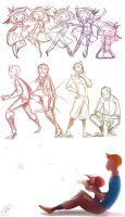 Tintin and Madeline sketches 2 by ChibiGuardianAngel