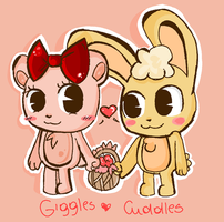 giggles and cuddles by ValeeNS