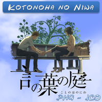 Kotonoha no Niwa ICO,PNG & Folder by bryan1213