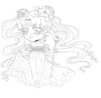 Serenity Chibi Lineart by Dar-chan