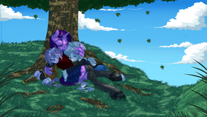 Commission - Under Shade by KittehKatBar