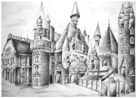 castle by dr4wing-pencil