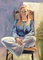Woman Sitting - Study by KJS-1