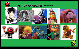 My Top 10 Favorite Muppets by DCatpuppet