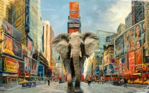 Times Square Elephant - updated by PodaViktor-SK