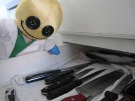Dr Happyface and the Knife drawer by Rei2jewels